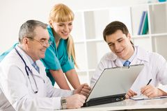 Physicians at work Stock Image