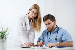 Physicians at work Stock Photography