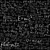 Physics. Illustration of mathematical and physical equation and formulas Royalty Free Stock Photography