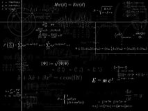 Physics background. A background of physics formulas and diagrams in black and white royalty free illustration