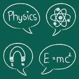 Physics chalky bubbles Stock Images