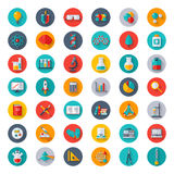 Physics, Chemistry, Biology, Laboratory Icons Stock Photo