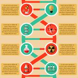 Physics and chemistry infographic stock illustration