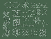 Physics and chemistry vector on green Stock Photo