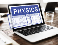 Physics Complex Experiment Formula Function Concept Stock Image