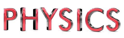 Physics 3d słowo ilustracja wektor