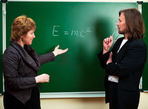 Physics discussion Royalty Free Stock Photography