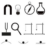 Physics icons Stock Photo