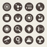 Physics icons Royalty Free Stock Photo