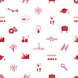 Physics icons seamless pattern Stock Photo