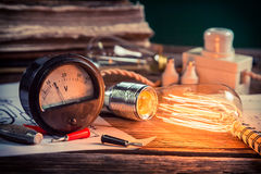 Physics Laboratory in school Royalty Free Stock Images