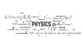 Physics line equations Royalty Free Stock Photo