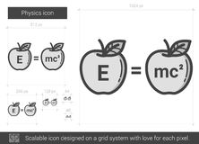 Physics line icon. Stock Image