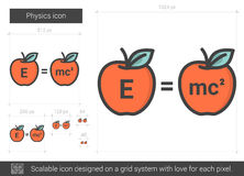 Physics line icon. Stock Photo