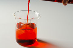Physics. Miscible liquids. 3 of 4 image series. Stock Photography