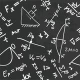 Physics pattern. Seamless pattern with physics formulas on a blackboard Stock Photography