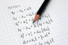 Physics problems Royalty Free Stock Photo