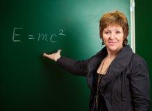 Physics professor Stock Photo