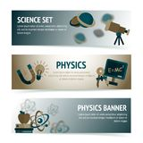 Physics science banners Stock Image