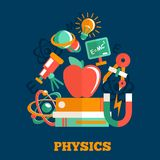 Physics science flat design Stock Photo