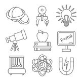 Physics Science Icons Royalty Free Stock Images