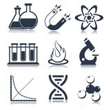 Physics Science Icons Stock Photos