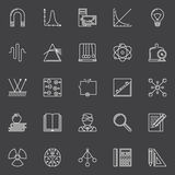 Physics and science icons Royalty Free Stock Images