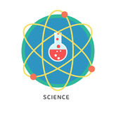 Physics science infographic template with Royalty Free Stock Photo