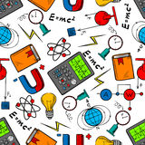 Physics science seamless pattern background Stock Photography