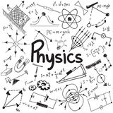 Physics science theory law and mathematical formula equation, do Royalty Free Stock Photo