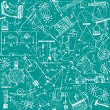 Physics seamless pattern Stock Image