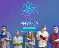 Physics Study Science Atom Energy Concept Stock Photo