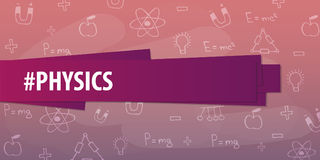 Physics subject. Back to School background. Education banner. Stock Photos