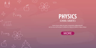 Physics subject. Back to School background. Education banner. Royalty Free Stock Images