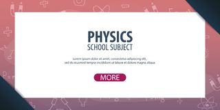 Physics subject. Back to School background. Education banner. Royalty Free Stock Photography