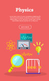 Physics Web Banner. Website template. Stock Photos