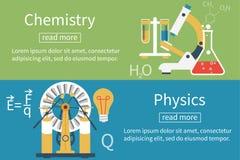 Physik, Chemievektor Lizenzfreie Stockfotografie