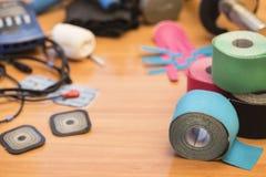 Physio- roulement spécial de bande et électrode d'adhésif, pour l'usage avec Photographie stock