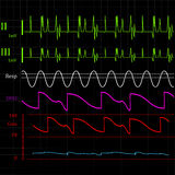 Physiologic monitor background Stock Photo