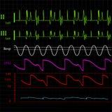 Physiologic monitor background Stock Photo