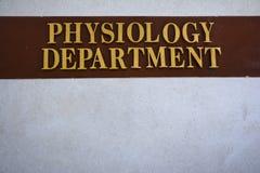 Physiologie-Abteilung Lizenzfreie Stockfotografie