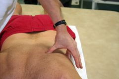 Physiotherapeut Lizenzfreie Stockfotografie