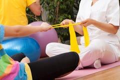 Physiotherapiemitte lizenzfreie stockbilder