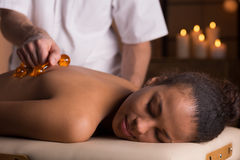 Physiotherapist and back massage Stock Image