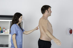 Physiotherapist doing a visual exploring. Stock Image