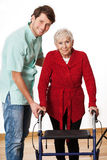 Physiotherapist and elderly woman Stock Photography