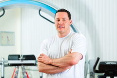 Physiotherapist in his clinic Stock Photo