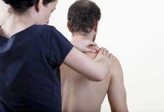 Physiotherapist knead Stock Photo
