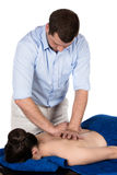 Physiotherapist massaging patient Royalty Free Stock Photo