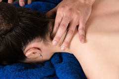 Physiotherapist massaging patient Royalty Free Stock Image